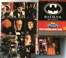 BATMAN RETURNS MOVIE TRADING CARDS  TOPPS STADIUM CLUB (100) SET COMPLETE