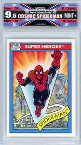 🌟 Cosmic Spider-Man 1990 Marvel Universe Series 1 #30 Freshly Graded 9.5 Mint+