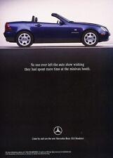 1997 1998 Mercedes Benz SLK SLK320 Original Advertisement Print Art Car Ad K10