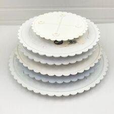"6 Wilton Round Decorator Cake Separator Plates 6"" 9"" 10"" 12"""