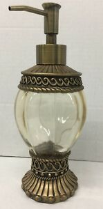 Free standing Superior quality Clear Soap / Lotion dispenser Gold finish New