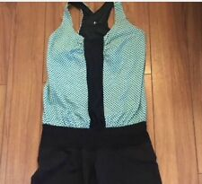 Lululemon Romp Her, Size 6, mint green and black