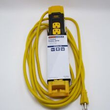 Work Choice 7 Outlet Power Strip Gang Plug 15' Cord 14 ga New