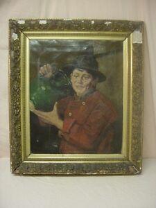 WILLEM ALBRACHT (1861-1922) MASTER Portrait Oil/Canvas w. Original Frame