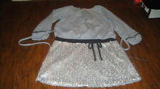BOUTIQUE ISOBELLA & CHLOE 6X GRAY SEQUE DRESS GORGEOUS AND TOO CUTE GIRLS
