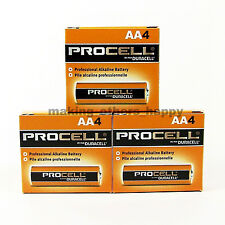 12 x AA Duracell Procell Alkaline Batteries 1.5V (PC1500, LR6)