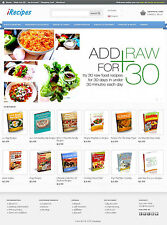 Recipes eBook Store Website For Sale - 50+ eBooks Preloaded