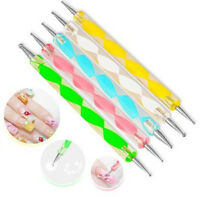 5pc Two-way Marbleizing Dotting Manicure Dot Pen Nail Art Tool Paint Draw Pens