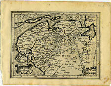 1607 Genuine Antique map Germany, North Sea. Wilhelmshaven. by Mercator/Hondius