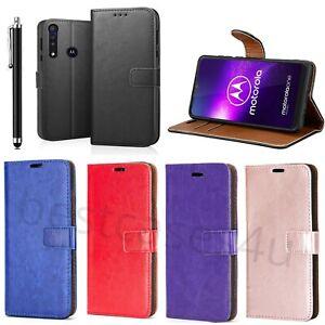 For Motorola Moto G8 Power Lite Phone Case Leather Flip Gel Wallet Book Cover
