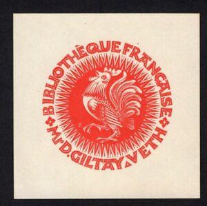 31)Nr.067- EXLIBRIS- Pam Rueter - Hahn / rooster - 1948
