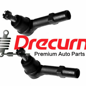 2PC Front Outer Tie Rod End For Enclave Traverse GMC Acadia Saturn Outlook