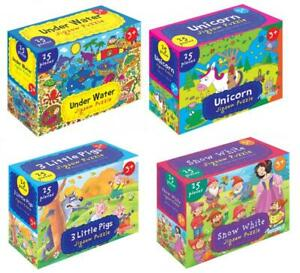 2x 25Pc Big Jigsaw Puzzle Large Pieces Kids Childrens First Educational Toy 35cm