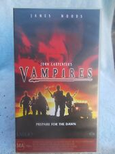VAMPIRES JOHN CARPENTER JAMES WOOD( No 102103) VHS TAPE MA (LIKE NEW)
