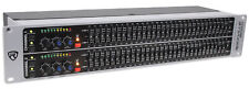 Rockville REQ231 Dual 31 Band Home Theater Graphic Equalizer EQ w/ Sub-Output