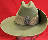 WW2 AUSTRALIAN ARMY BRIGADIER GENERAL'S UNIFORM SLOUCH HAT 1941 HATCRAFT PTY LTD