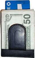 New Leather Money Clip, Credit card/ID holder wallet with magnetic money clip BN