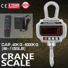 5000KG 1Ton 10,000 LBS Digital Crane Scale Heavy Duty Hanging Scale CA