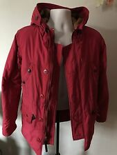 Supreme N-3B Cotton Waxed Red Parka Hooded Jacket Size M Medium Free Stickers
