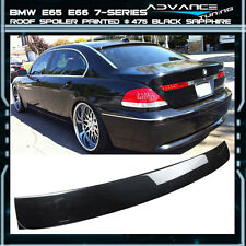 02-08 BMW E65 E66 7-Series Roof Spoiler OEM Painted Color # 475 Black Sapphire
