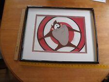 Warner Brothers Tasmanian Devil Animation cel w/ COA large bulleye