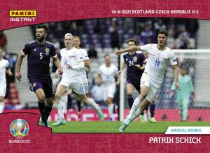 EURO 2020 Panini Instant #9 Patrik Schick Magical Double Czech UEFA PRESALE