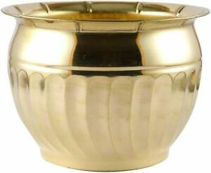 Brass Flower Planter Vase Stand Pot Gold Garden Ornament vase SET of 2 New Gift