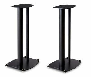 Wharfedale ST1 Loudspeakers Stand Black 1 Pair High 21 31/32in
