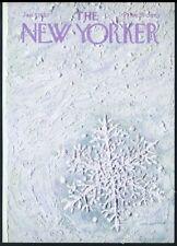 New Yorker magazine framing cover January 7 1967 snowflake snow flake