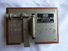 VINTAGE A-ROSS ENSIGN POPULAR FILM SPLICER BOXED  8 mm