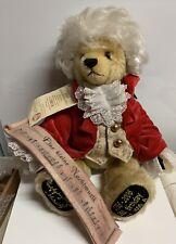 """Hermann-Spielwaren 14"""" Jointed Mohair Bear #131/500 Wolfgang Amadeus Mozart"""
