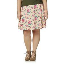 "Joe Boxer rose print circle skirt, Plus size 3X(46""-68"" waist)"