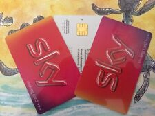 FREESAT  SKY HD Limited Edition Red VIEWING CARD *INCLUDES SONY MOVIE CHANNEL!