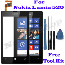 Black Nokia N520 Lumia 520 Touch Screen Digitizer Front Glass Lens Replacement