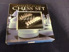 Limited Edition Elegant Glass Chess Set NIB some scratches & Tears