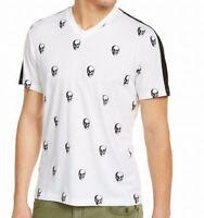 INC Mens T-Shirt Classic White Black Size 2XL Skull Print Graphic Tee $29- 290