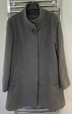 Basler Grey Funnel Neck Coat Jacket Size 16 Wool