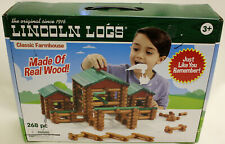 New in Box Original Lincoln Logs Classic Farmhouse (Real Wood) 268pc