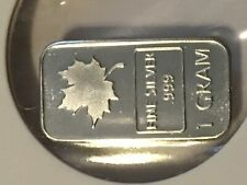 Canadian Maple Leaf Solid Silver 10 pack of 1 gram bars by REEDERSONG