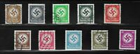 Stamp Collection / 1934 & 1942 Third Reich Officials Used / Third Reich Germany