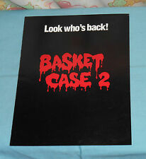 vintage BASKET CASE 2 video store ADVERTISING BROCHURE Grave Secrets