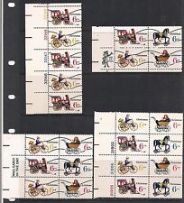 US STAMPS SCOTT #1415a -1418a X-MAS PRE-CANCELLED PLATE BLOCKS OF 4,6,& 8 + FDC