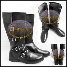 Medieval Leather Boots Re-enactment Mens Shoe Larp Role Play Costume Size 10