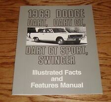 1969 Dodge Dart GT Illustrated Facts Features Manual 69