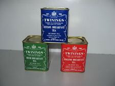 Collection Of 3 Smaller Twinings 125g Tea Tins In Very Good As Shown Condition