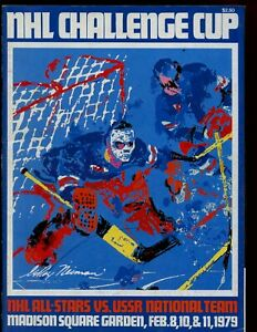 Feb 1979 NHL All Stars vs USSR National Team Hockey Program EXMT