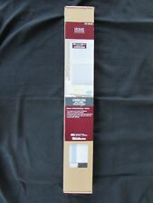 "LOT OF 2 BRAND NEW HOME DECORATORS 29"" X 48"" CORDLESS SHEER WHITE WINDOW SHADES"