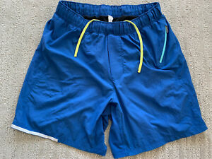 "Lululemon 6"" Running Shorts Lined - Used - Men's Sz S - Blue"