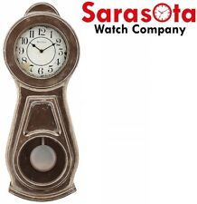 """Bulova Guilford C1518 Aged Rubbed Finish Antiqued Arabic Dial 25.5"""" Wall Clock"""