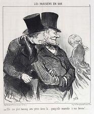 Honore Daumier France 1808 -1879 Lithograph Les Parisiens en 1852